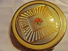 3 PC LOT VINTAGE MAKE UP COMPACTS DORSET FIFTH AVE SWING ROCKABILLY MAD MEN HIPS