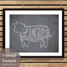 cow butcher print