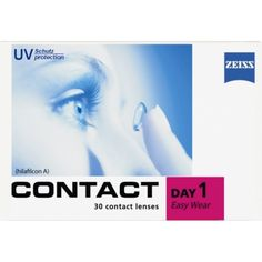 Contact Day 1 Easy Wear contact lenses are high quality soft daily lenses from the German contact lens manufacturer Wöhlk made for Zeiss. Single-us Toric Lenses, Zeiss, Box, Colours, Contact Lens, Easy Wear, Specs, German, Colored Eye Contacts
