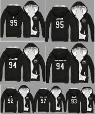 KPOP BTS Fleece Hoodie Bangtan Boys Sweatshirt Unisex Thick Sweater Tshirt Coat