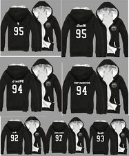 KPOP BTS Fleece Hoodie Bangtan Boys Sweatshirt Unisex Thick Sweater Tshirt Coat