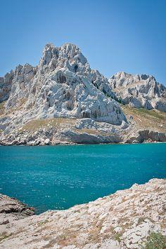 Calanques,La baie des Singes, Les Goudes, Marseille, France.