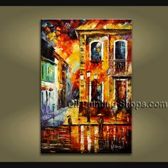 Beautiful Contemporary wall art oil paintings of Landscape. Direct from Bo Yi Art Studio. It is with great pleasure to offer you this stunning 1 panel(s) wall art! This painting is created and hand painted by us, it is well stretched with inner frame, rea Oil Painting Texture, Modern Oil Painting, Modern Art Paintings, Hand Painting Art, Abstract Paintings, Oil Paintings, Contemporary Wall Decor, Modern Wall Art, Panel Wall Art