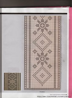 View album on Yandex. Filet Crochet, Crochet Borders, Crochet Diagram, Crochet Stitches, Crochet Patterns, Crochet Table Runner Pattern, Crochet Tablecloth, Crochet Dollies, Crochet Lace