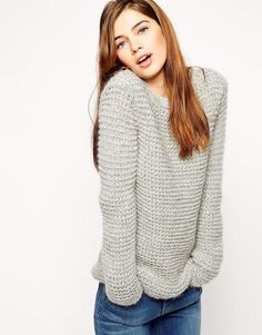 ASOS | ASOS Sweater in Chunky Mohair Stitch at ASOS