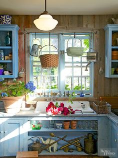 Rustic look for gardening portion of shed?  Do- able!