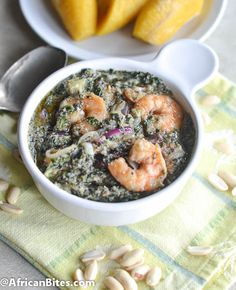 Ndole ( Spinach/ Bitterleaves and Peanut Soup)