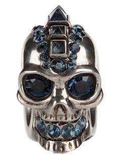punk rock skull ring