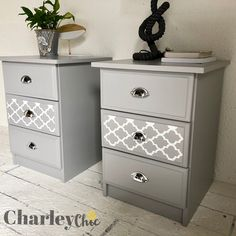 Pair of bedside lockers Swipe for the before image. Furniture Makeover Home Makeover Home Decor Decorations Ideas Used Bedroom Furniture, Leather Living Room Furniture, Bedroom Dressers, Wood Bedroom, Refurbished Furniture, Recycled Furniture, Pallet Furniture, Furniture Makeover, Painted Furniture