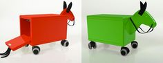 """Trojan horse - kids love to load up stuff and transport it around.  This design is ideal for that!  Of course the company markets it as a place parents can """"hide"""" kids toys."""