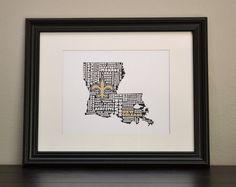 New Orleans Saints Print. Who Dat!