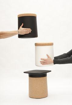 En liège. #storage cork #designfurniture #livingroomfurniture #kristalia #bedroomfurniture