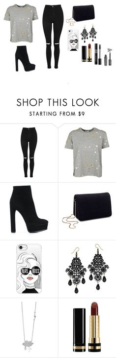 """""""Sans titre #33"""" by haifoufa-nasralli on Polyvore featuring Topshop, RED Valentino, Casadei, Miss Selfridge, Casetify, Gucci et Christian Dior"""