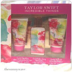 NEW-TAYLOR-SWIFT-INCREDIBLE-THINGS-Perfume-Lotion-Bath-Holiday-2014-Gift-Set-Box
