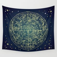 Zodiac Star Map Wall Tapestry by From Flora With Love | Society6