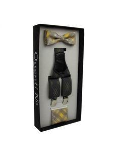 Luxusní dárkový set- šle, motýlek, kapesníček Wire, Cable