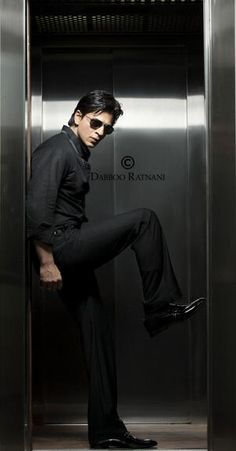 SRK by Dabboo Ratnani - shot in the elevator of Mannat