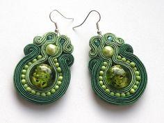 Soutache earrings made by Bajobongo, Poland