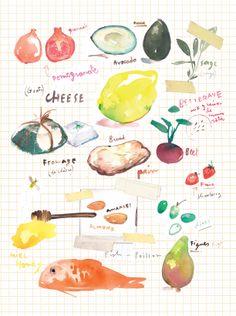 Food Illustration by Lucile Prache  #LucilePrache