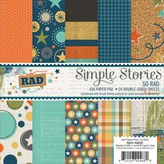 So Rad 6x6 Paper Pad-Simple Stories | Paper Issues