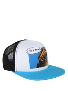 Star Wars snapback trucker hat with Admiral Ackbar