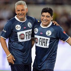 #Baggio and #Maradona having a good time at the #matchforpeace!