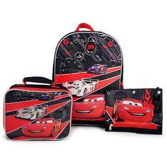 Disney Pixar Cars Backpack, Lunch Bag, and Pencil Case Set