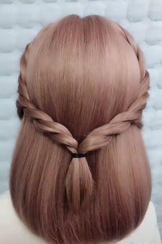 Updos For Medium Length Hair Tutorial, Hairstyles For Medium Length Hair Easy, Hair Tutorials For Medium Hair, Cute Braided Hairstyles, Up Dos For Medium Hair, Short Hair Styles Easy, Braids For Short Hair, Elegant Hairstyles, Medium Hair Styles