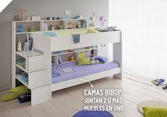 Los niños adoran tener más y más espacio en sus habitaciones para poder jugar, y para ello, las camas Bibop son ideales ¡Porque ellos también merecen una renovación! #Sodimac #Homecenter