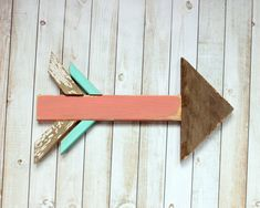 Wood Arrow Rustic Baby Girl Nursery by TheSalvageCo on Etsy