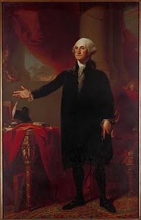 Gilbert Stuart, American, 1755-1828    George Washington (The Lansdowne Portrait)    1796