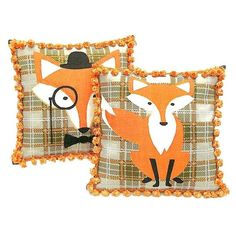 Orange tartan plaid fox throw pillow with tassel fringe 18x18 woven... ($40) ❤ liked on Polyvore featuring home, home decor, throw pillows, woven throw pillows, fringed throw pillows, orange throw pillows, fox home decor and orange toss pillows