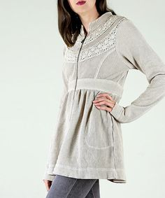 Another great find on #zulily! Gray Zip-Front Sgt. Pepper Jacket #zulilyfinds