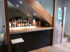 Ideas for Space Under Stairs   Under The Stair Ideas With Mini Bar Design in Mini Bar Under Stairs ...