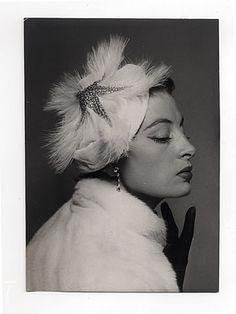 Simone Cange (Millinery) 1951 Capucine as Model, Original Photo Press, Robert Cohen
