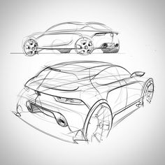 D Ecovillage www. Cool Sketches, Drawing Sketches, Design Transport, Industrial Design Sketch, Sketches Tutorial, Car Design Sketch, Hand Sketch, Sketch Inspiration, Car Drawings