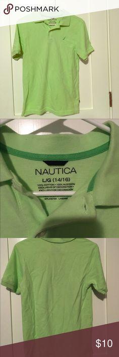 Boys Nautica lime green polo worn once Lime green Nautica short sleeved polo only worn once! Nautica Shirts & Tops Polos