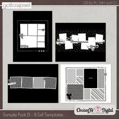Sample Pack 13 - 8.5x11 Templates :: Gotta Pixel Digital Scrapbook Store