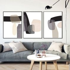Abstract Geometric 3 Print Set Abstract Shapes Art Black Beige Prints Geometric Posters Printable Wall Art Living Room Decor Modern Artwork#wallartdecor #wallartlivingroom #wallartprintables