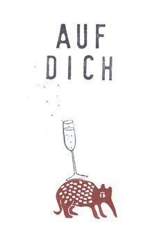 Postkarte mit Spruch // quote post card via DaWanda.com