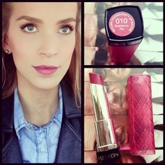 "i just got this new revlon lip butter ""raspberry pie"" and I'm already loving it ♡http://instagram.com/leighannsays"