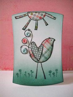 Donna Mikasa - Curly Bird Card
