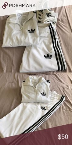 Adidas Track suit, white. Men's size small. Adidas track suit Adidas Other