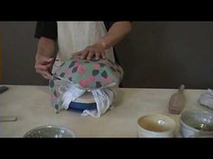 Hand Built Plate Using Multicolored Clay on Drape Mould - YouTube