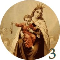 "Third Day: Novena to Our Lady of Mount Carmel   Prayer: Virgin Mary, you who wrap your Jesus in swaddling clothes, teach us to be always small so that we may ""be carried in God's arms"". Virgin Mother, who wrap your Jesus in swaddling clothes, help us to clothe ourselves with your Son, so that each day we may be a sign of God's love. Virgin Mary, Splendour of heaven, hold us tight under your mantle."