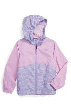 The North Face Flurry Hooded Windbreaker (Toddler Girls & Little Girls) available at #Nordstrom
