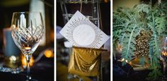 Sorry about the lack of post yesterday – this week has just been insane. But we're making up for it with a double dose of awesome today. Gold Planter, Black Tablecloth, Glam Rock, Green Plants, Rock Style, Wedding Shoot, Wedding Stationery, Rock N Roll, Table Decorations