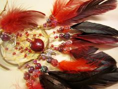 Horse Dancer's Handmade Red and Silver Llama Dream Catcher by jungleeyejoe on Etsy