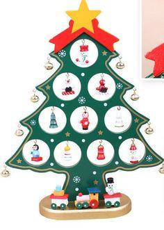15976debfa2ab Nuevo 2015 Decoracion Navidad Mini tabla Trees decoración de madera del  árbol de Navidad con ornamento