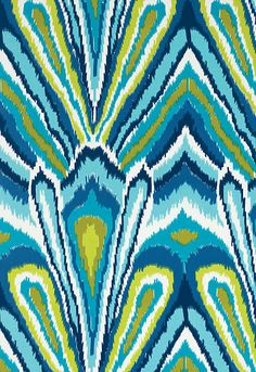 Peacock Print Indoor/outdoor fabric by Trina Turk for Schumacher